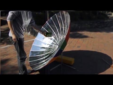 видео: Солнечная печка из зонтика
