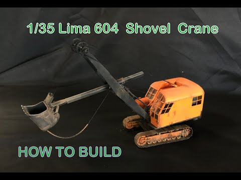 Building the 1/35 MASTER PIECE MODELS LIMA 604 Shovel crane dragline resin kit