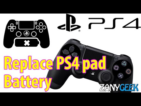 How-to Replace a PS4 Dualshock4 Controller Battery - Playstation Tutorial -  ZanyGeek