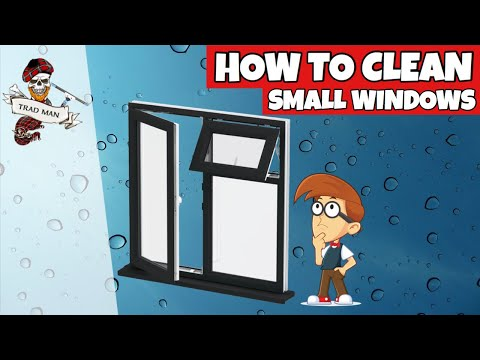 How to clean small thin windows