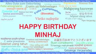 Minhaj   Languages Idiomas - Happy Birthday