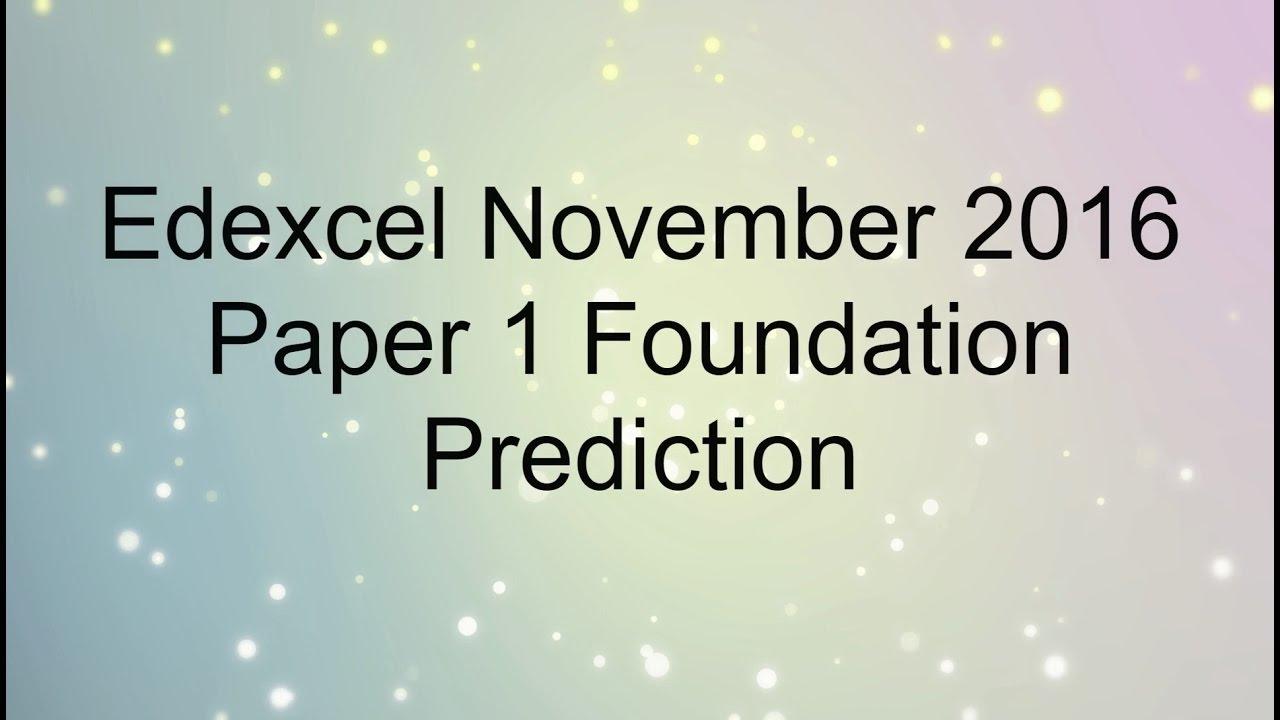 pixl predicted paper 1