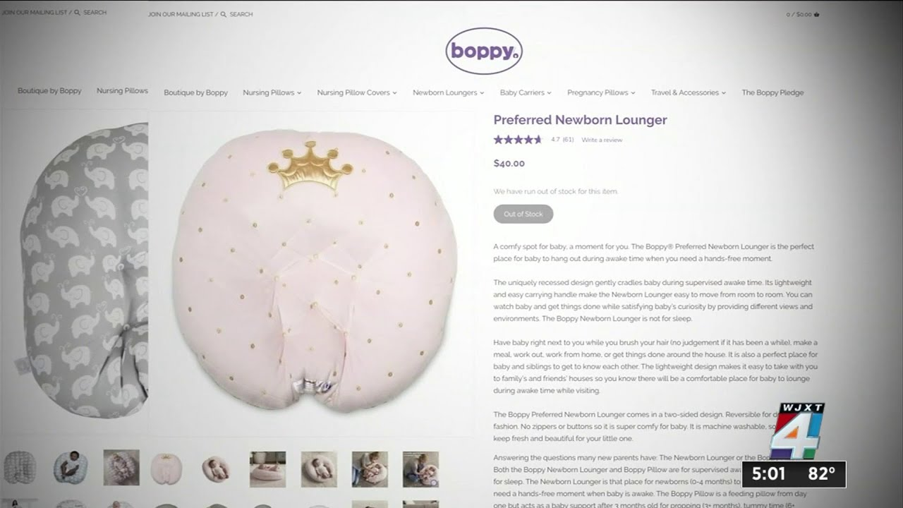 3.3 million Boppy baby loungers recalled after 8 infant deaths