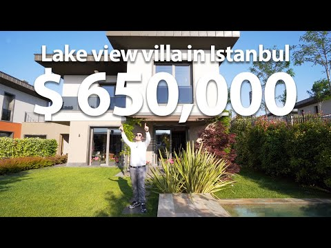 Lake view villa in Istanbul $650,000 | Turkey Vlog #10