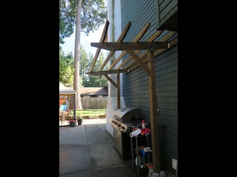 How we built a pergola over our BBQ grill