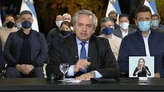 Mensaje del presidente Alberto Fernández desde la Residencia de Olivos
