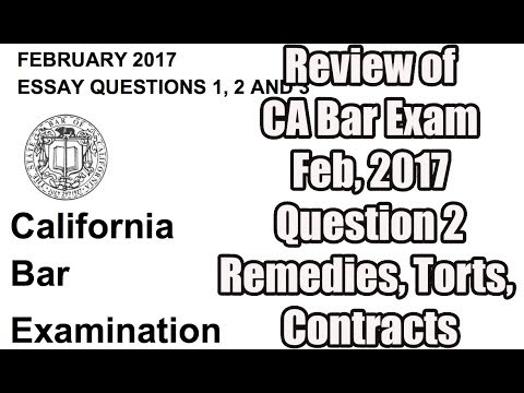 California Bar Exam Subjects