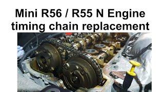 Mini R56 Timing Chain Replacement. Mini Cooper timing chain noise repair in your R56/R55 Mini Cooper