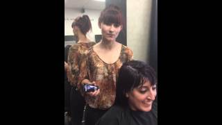 Salon @ Bella Luca Assistant Jenny Lewis demo of the new Redkin Product