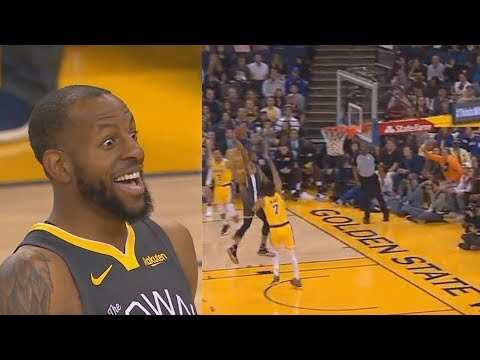 Andre Iguodala SHOCKS Entire Warriors Crowd With Dunk On Javale McGee After Giving Him His Ring!