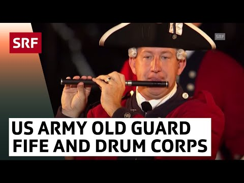 United States Army Old Guard Fife & Drum Corps | Basel Tattoo 2017 | SRF Musik
