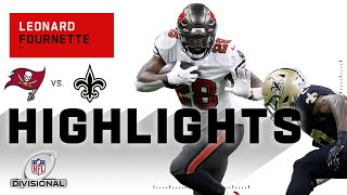 Leonard fournette carried the load for bucs, finishing with 63 rushing yards and 44 receiving one touchdown through air. tampa bay buc...