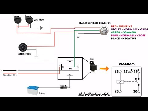 Compact Horn Stock Horn Using Halo Switch Installation Applicable To All Motorcycle Youtube