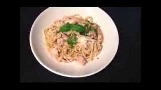 Gourmet Italian Olive Garlic Chicken Pasta Linguine Recipe