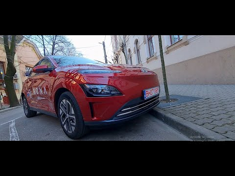 Kona Electric 64 KW 204 CP test la 1000 KM - Showroom virtua