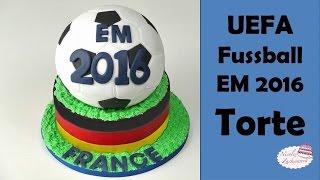 Fussball EM 2016 Torte | Fondanttorte zur EM 2016 | Ball-Torte von Nicoles Zuckerwerk