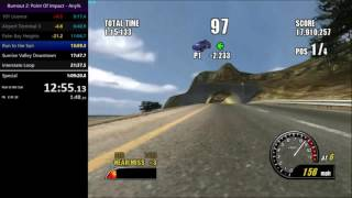 [Previous WR] Burnout 2: Point of Impact Single Championship Any% 1:07:59 Speedrun