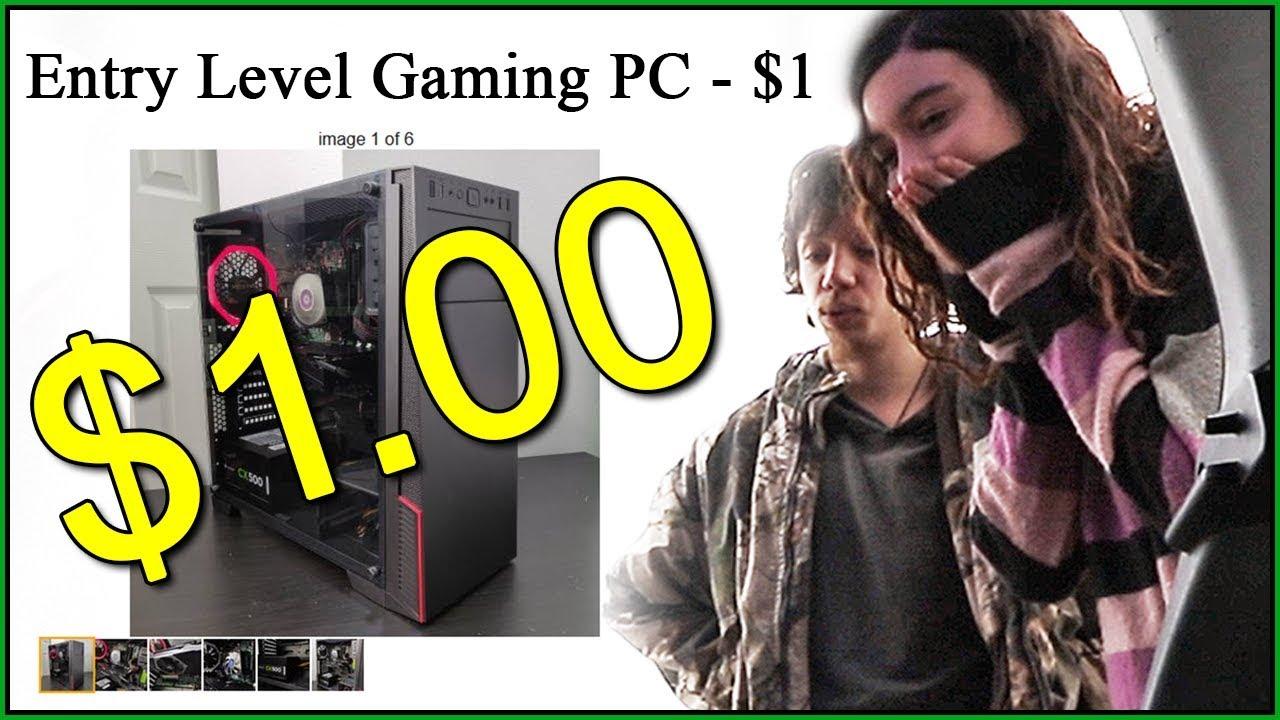 $1 Craigslist Gaming PC - YouTube