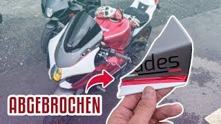 Motorrad umgefallen🤬 Verkleidung gebrochen   DualVlog