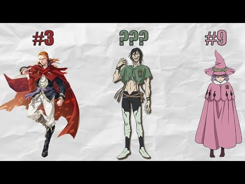 The Magic Knight Captains Ranked From WEAKEST to STRONGEST! (Black Clover Anime)
