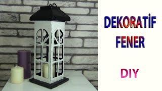 Atık Kartondan Dekoratif Fener | Decorative Lantern From Cardboard | DIY