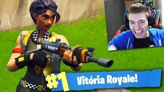 FORTNITE-The TÁXISTA SKIN gave me a LOT of LUCK!!! Victory