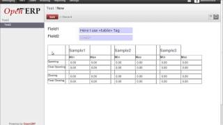 Table Tag In OpenERP 7