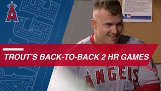 Mike Trout crushes two HRs in back-to-back games
