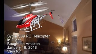 Syma S39 RC Helicopter in Flight