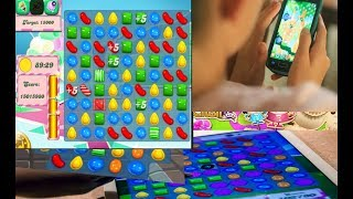 Baixar Candy crush played by 5 years baby girl and best score || best game for kids and boost brain
