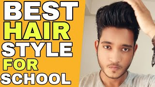 Best School Hairstyle For Your Face Shape | Hindi | Simple And Stylish Haircut For Indian Boy