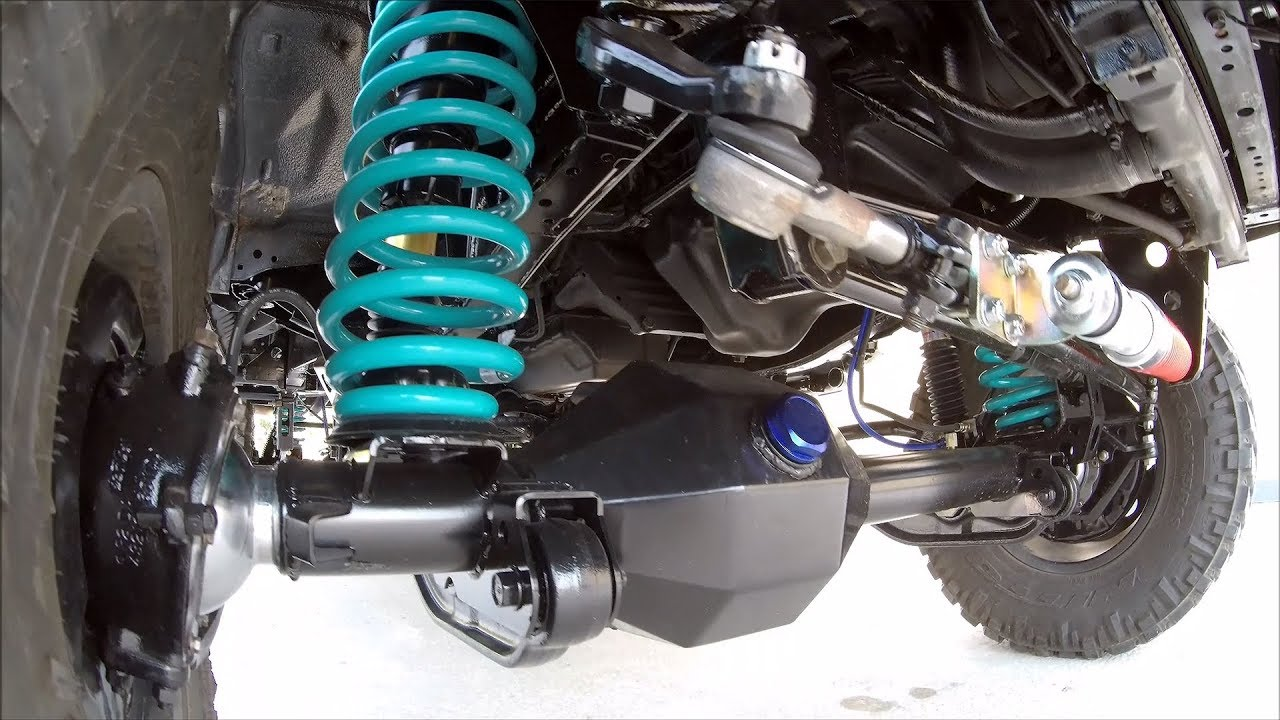 Toyota Hilux 6th Generation Coil Spring Conversion With Custom Fab Housing Youtube
