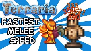 Максимальная скорость атаки в Terraria (Fastest Melee Speed) [Terraria 1.3]