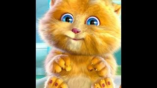 Рыжий котик-повторюшка. Рыжик купается и чистит зубы.Talking cat.