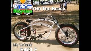 BiG VinTage Bicycle Eagle Beach Cruiser Fat Tire Short Video