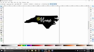 Inkscape Basics - Create an image and slice text out of it