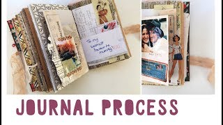 JUNK JOURNAL WITH ME - Ep 04 | Journalling Process | Vintage Journal