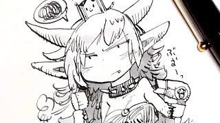 クッパ姫メイキング/Bowser princess drawing