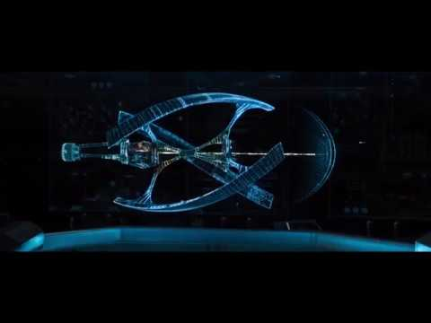 Avalon spaceship hit meteor starting movie youtube for Passengers spaceship