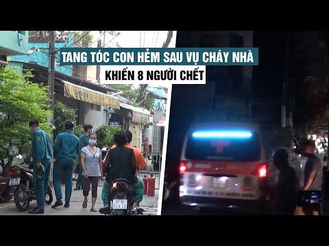 Tang tóc trong con hẻm trên đường Lạc Long Quân sau vụ cháy nhà khiến 8 người chết