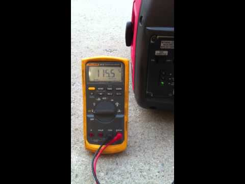 Honda EU2000i and Air Compressor with Voltage Measurement