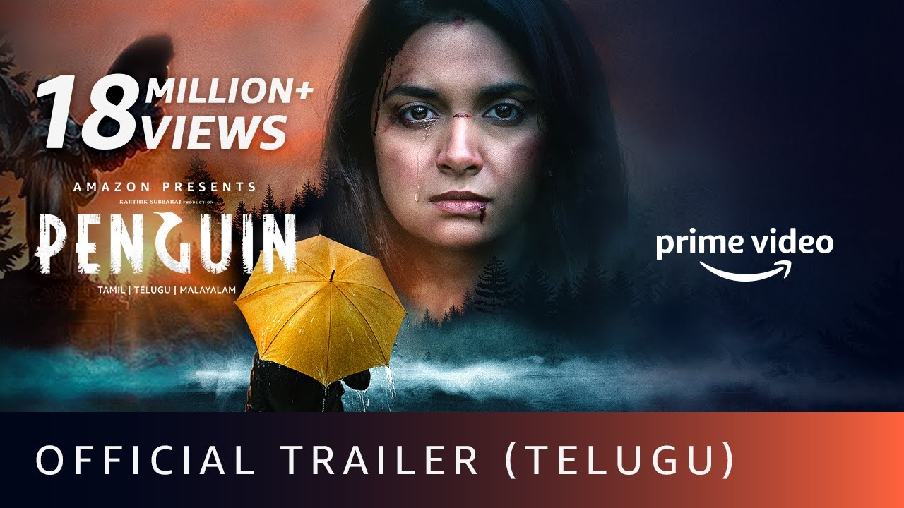 Penguin - Official Trailer (Telugu)| Keerthy Suresh | Karthik Subbaraj | Amazon Prime Video| 19 June