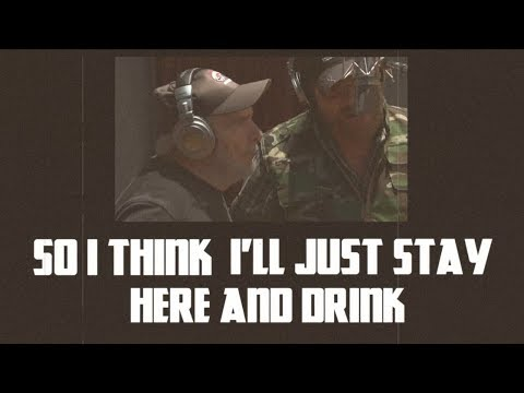 Hank Williams Jr. - I Think I'll Just Stay Here and Drink (feat. Merle Haggard) - Lyric Video