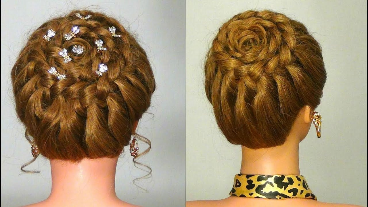 "Pics Of Hair Styles: Прическа с плетением ""Корзинка"". Circle Braid. Braided"