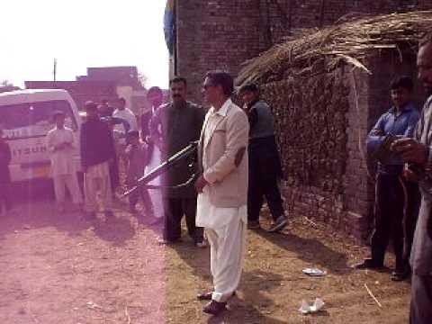 Sukhana bajwa firing with G3 Adil Bajwa
