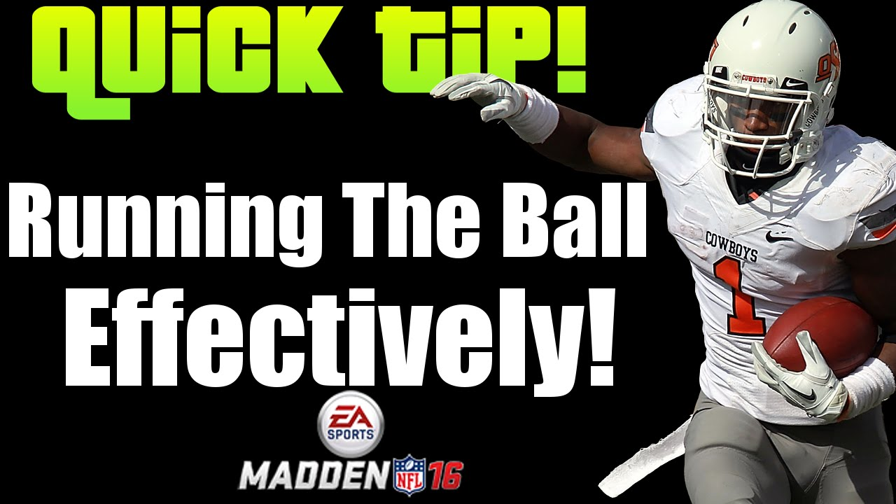 Madden 16 Tips: Running the Ball Effectively