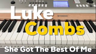 She Got The Best of Me | Luke Combs | Beginner Piano Lesson