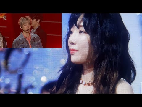 Taeyeon reaction Exo in Golden Disc 2018