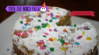 TORTA QUE NUNCA FALLA/ RECETA- PASTEL DE CUMPLEAÑOS Thumbnail