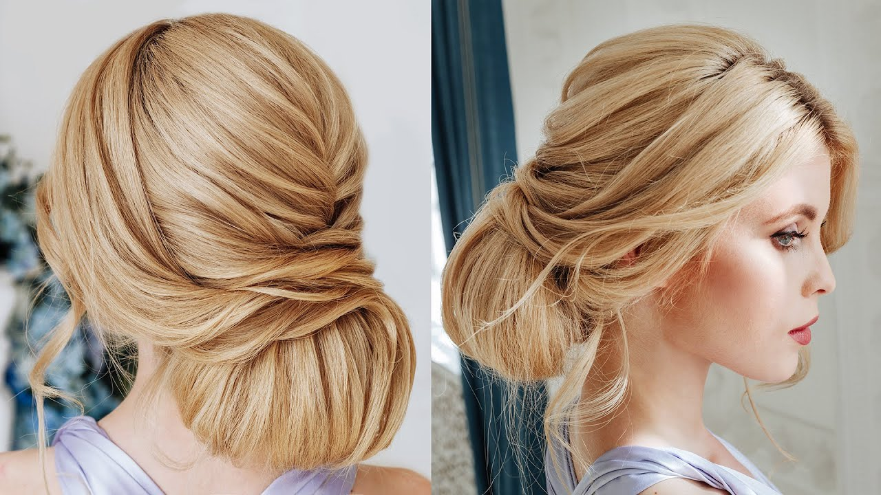 textured bun for thick hair tutorial | wedding hairstyle for long thick hair
